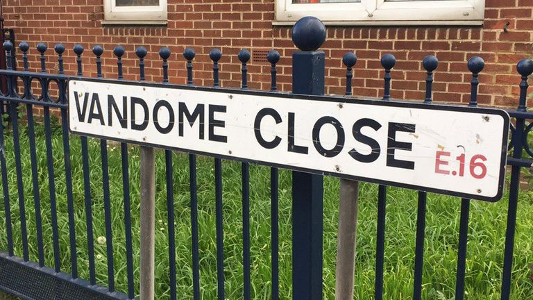 Vandome Close in east London where the two women were found