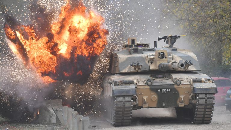 Ben Wallace has denied rumours Britain is scrapping the Challenger 2 tank
