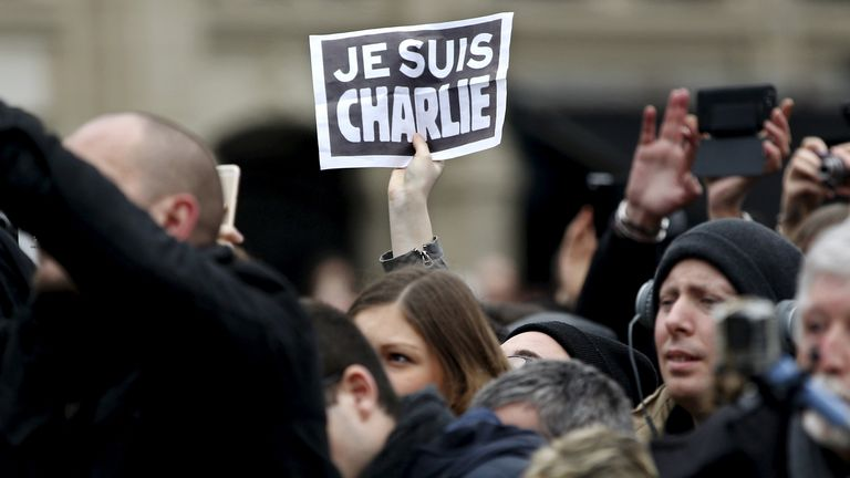 People around the world used 'Je Suis Charlie' to support the magazine and those killed