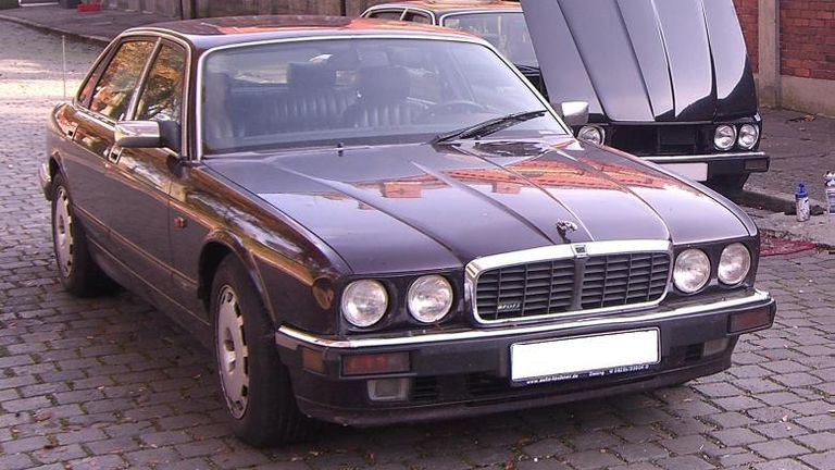 A Jaguar car used by Christian B