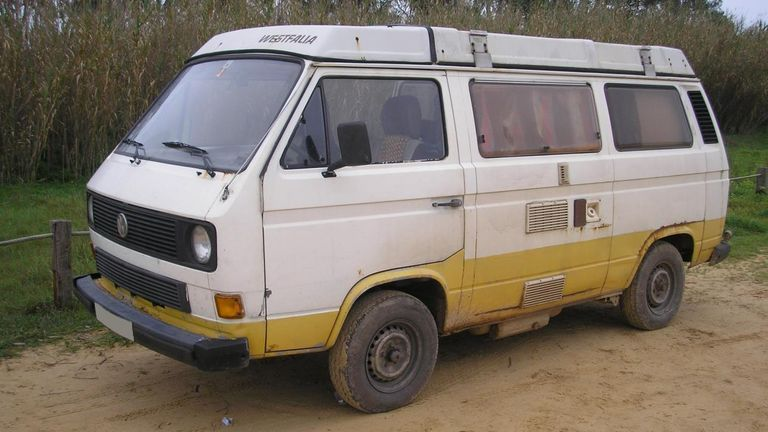 A van said to be like the one used by Christian B
