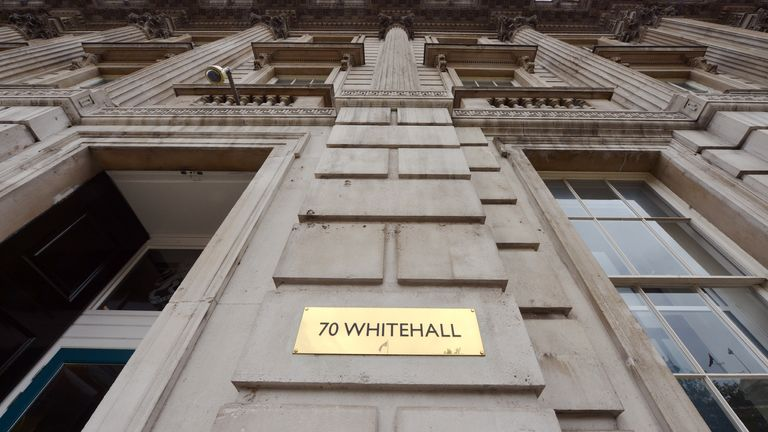 The headquarters of the Cabinet Office in Whitehall