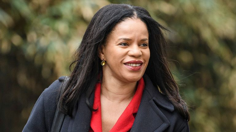 Claudia Webbe arriving at a Labour Party meeting to finalise the Party's 2019 General Election manifesto
