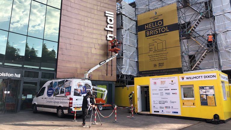 The new logo for the Bristol Beacon will be installed in the coming months. Pic: Bristol Music Trust