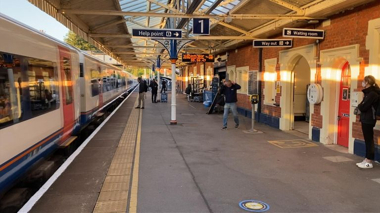 Train platforms remain far less busy than pre-lockdown