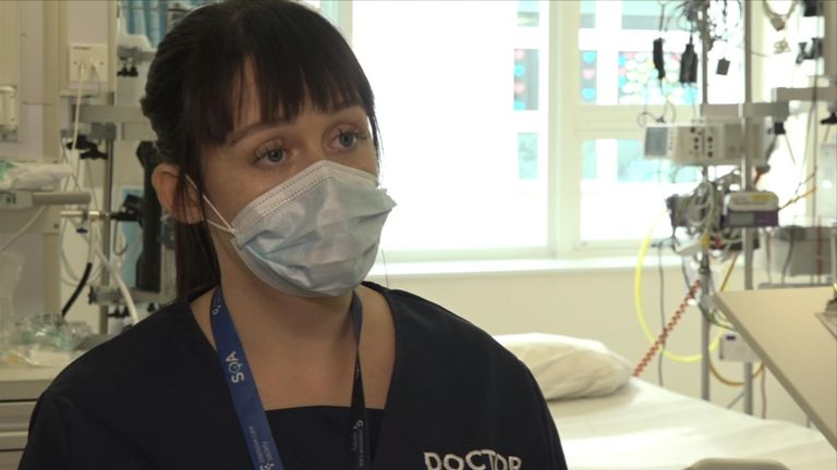 University Hospital Coventry ICU consultant Dr Aoife Abbey