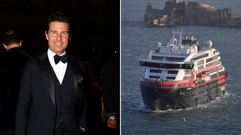 Tom Cruise has reportedly paid to rent a cruise ship to house production crew while filming