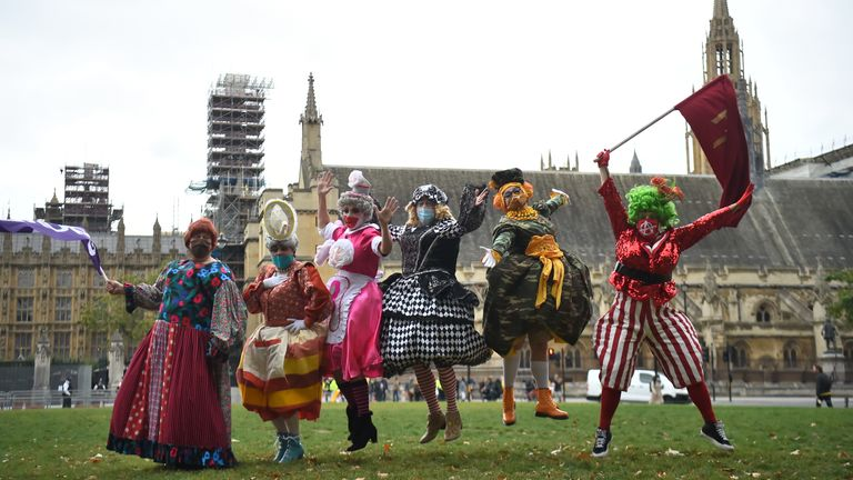 Panto stars are demanding support from the government