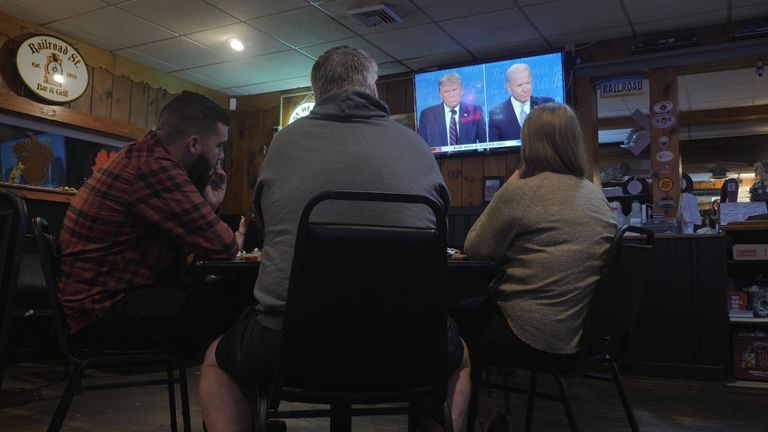 Watching the presidential debate in Pennsylvania