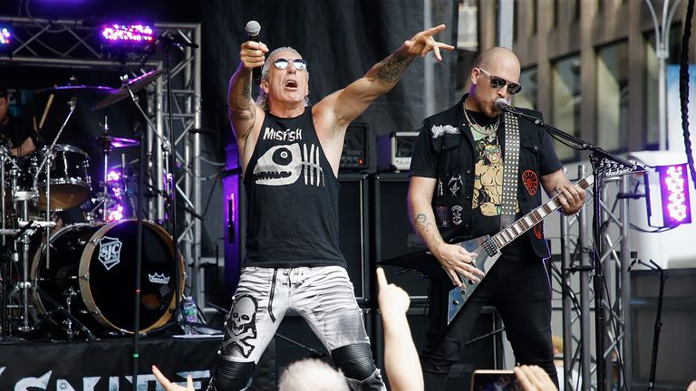 "Dee Snider performs on ""FOX & Friends"" on July 20, 2018 in New York City. *** Local Caption *** Dee Snider"