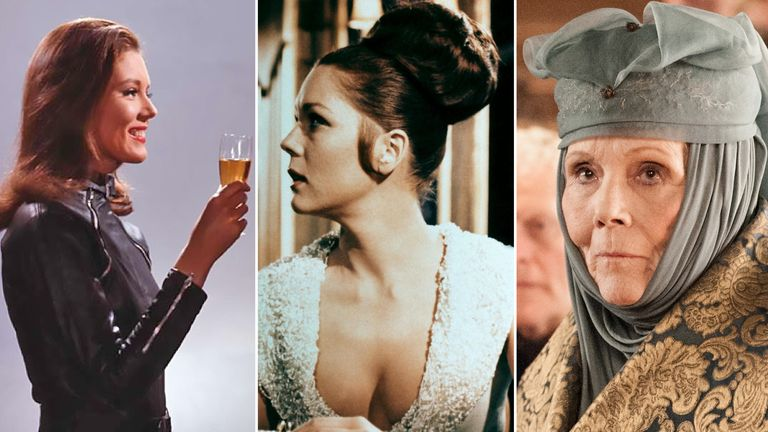 Diana Rigg. The Avengers, OHMSS, Game of Thrones. Pics: Alamy/ITV/AF archive/Sky UK
