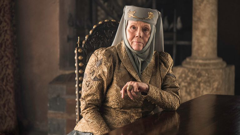 Diana Rigg as Olenna Tyrell in Game Of Thrones. Pic: Sky UK