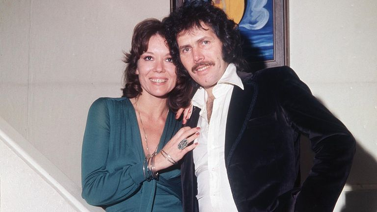 Pic: Bob Taylor/Shutterstock  VARIOUS - 1974 DIANA RIGG WITH HER HUSBAND MENAHEM GUEFFEN  1974