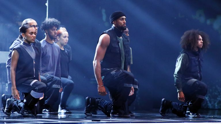 Diversity performed a Black Lives Matter-inspired dance on Britain's Got Talent: Credit: Syco/ Thames/ ITV