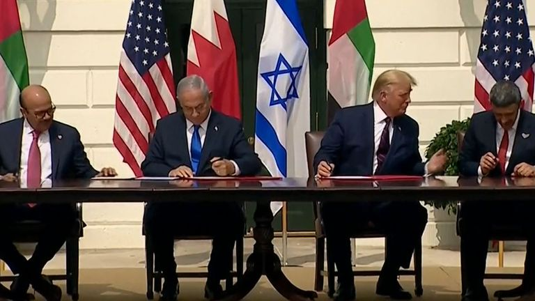 Historic accords are signed at the White House