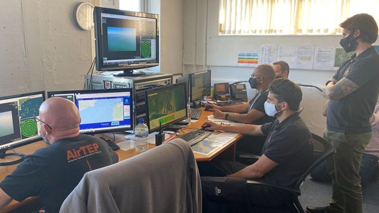 Pilots operate the drones from a control room at Lydd Airport in Kent