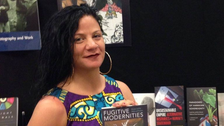 Jessica Krug pictured at a book signing in 2019. Pic: Duke University Press