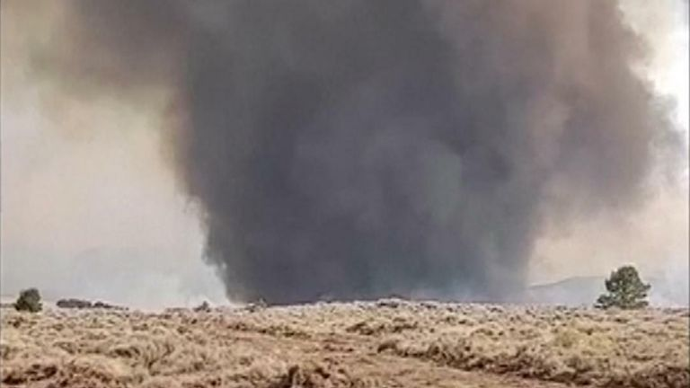 An unusual dust devil emerged in Oregon following wildfires