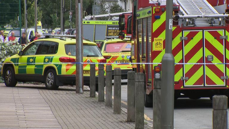 Emergency services were called to the scene just after 3pm