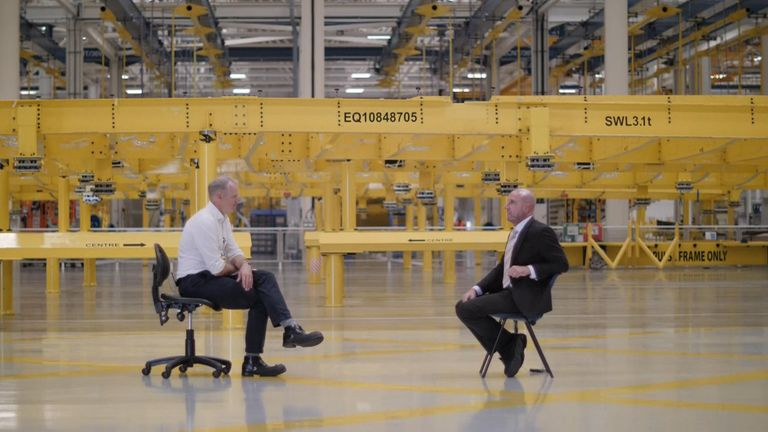Sky's Paul Kelso talks to Paul McKinlay, the head of Airbus's Broughton plant