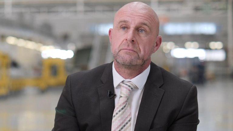 Paul McKinlay, the head of Airbus's Broughton plant