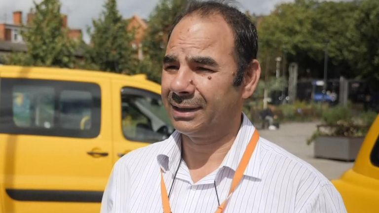 Taxi driver Zamir says the impact of coronavirus on Rolls-Royce has had a severe knock-on effect on his trade