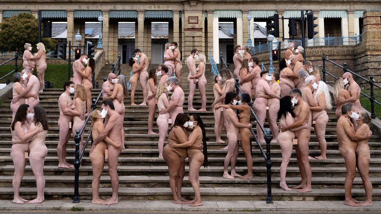 Everyone Together, by Spencer Tunick for Sky Arts
