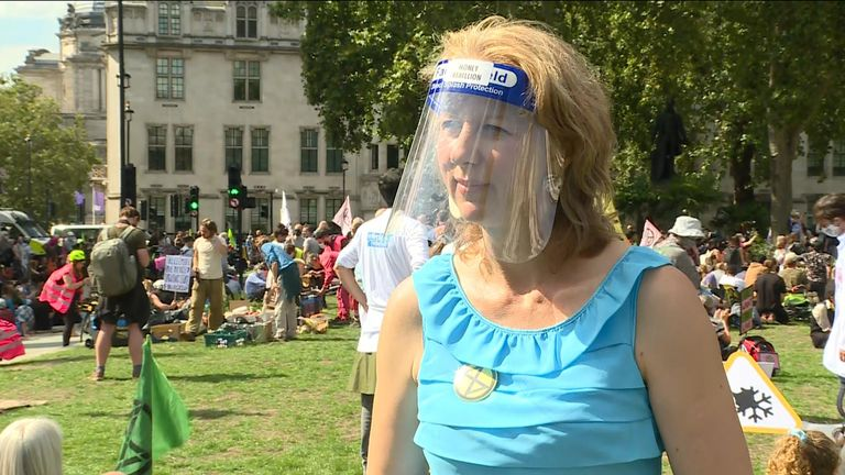 Extinction Rebellion co-founder Dr Gail Bradbrook told Sky News the public had 'got the message' over the urgency of fighting climate change