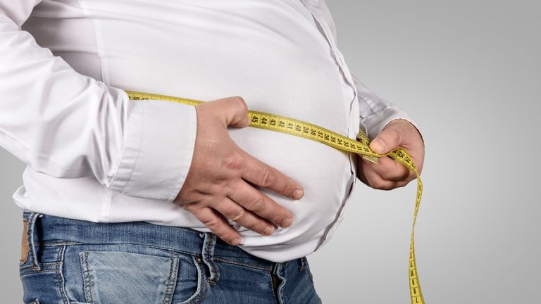 A waistline of more than 40 inches increased the risk by 35% compared to one less than 35 inches
