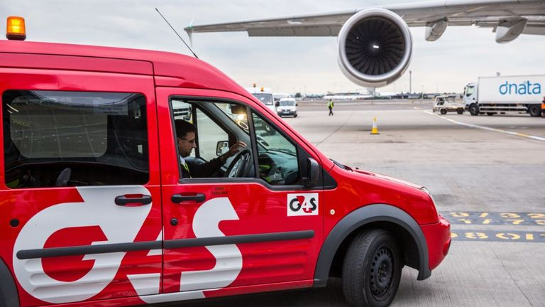 G4S security interests include airports, prisons and events. Pic: G4S