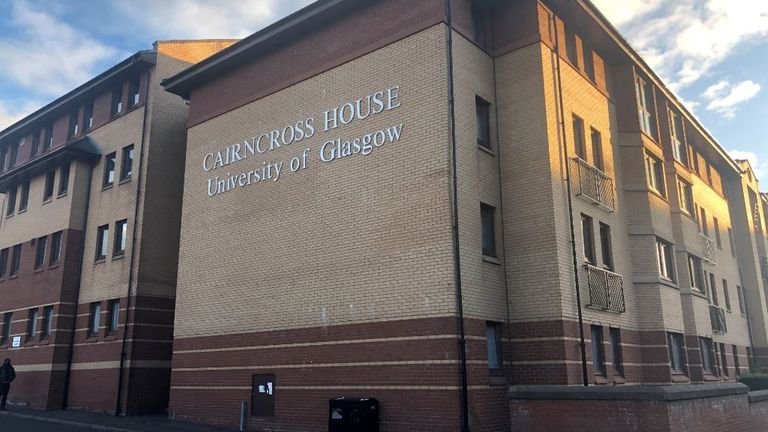 Cairncross House is one of two University of Glasgow residences self-isolating