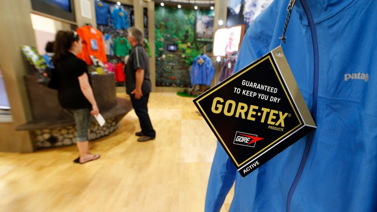 A wet weather jacket made with Gore-tex