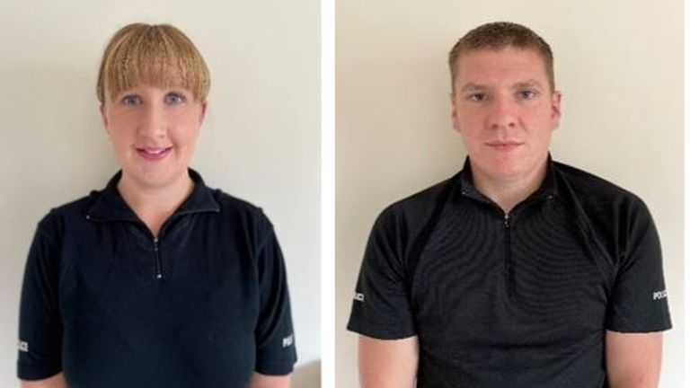 PCs Joanna and Jack Wilber have been nominated for a national police bravery award. Pic: Greater Manchester Police Federation