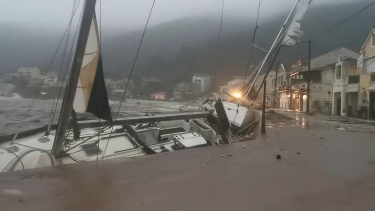 The island of Kefalonia was badly hit by the storm