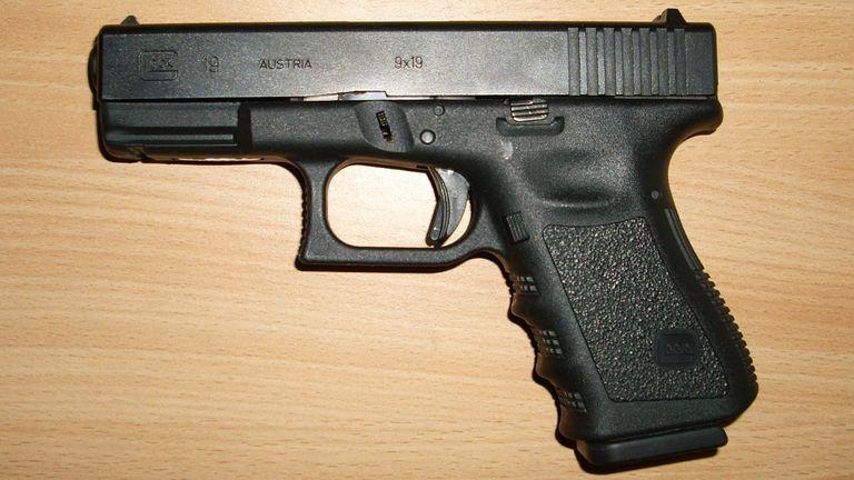 A Glock 19 handgun. Pic: Wikicommons
