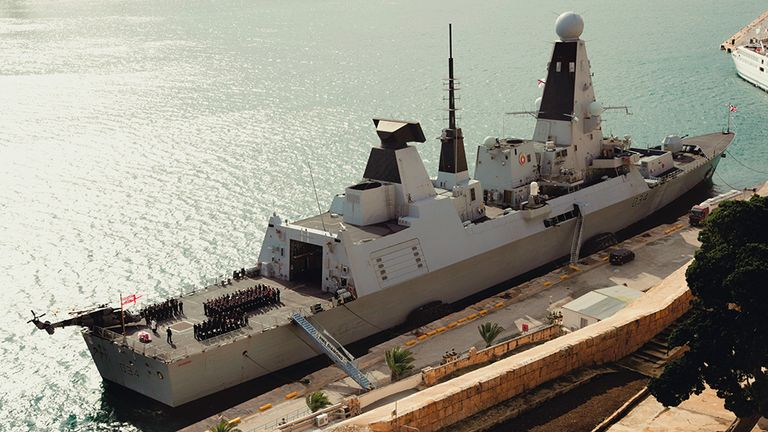 The HMS Tamar is the Royal Navy's newest warship
