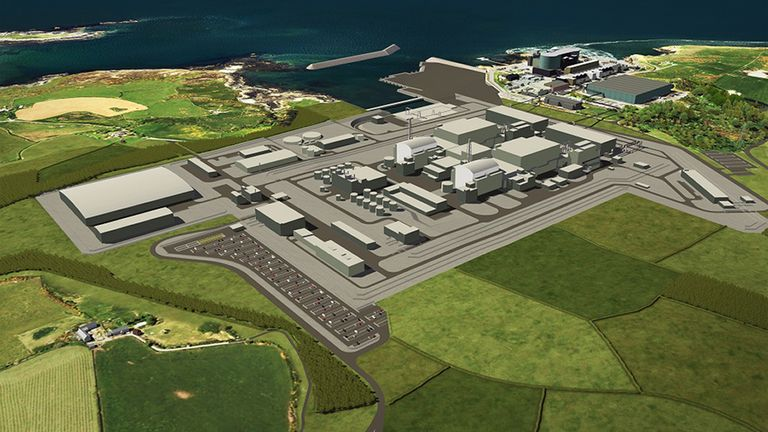 Undated handout file image of an artists impression of a planned nuclear power station at Wylfa on Anglesey in north Wales. Horizon Nuclear Power has announced it will be ceasing its activities to develop two projects in the UK following a decision by Japanese giant Hitachi to pull out of the scheme.