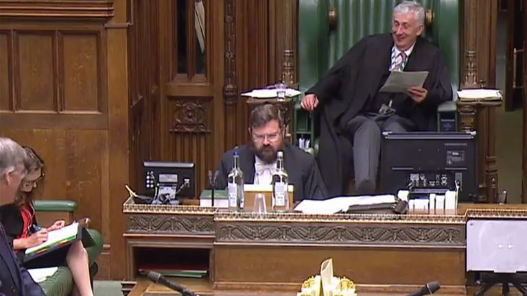 House of Commons after Jacob Rees-Mogg played Rule, Britannia! in the chamber