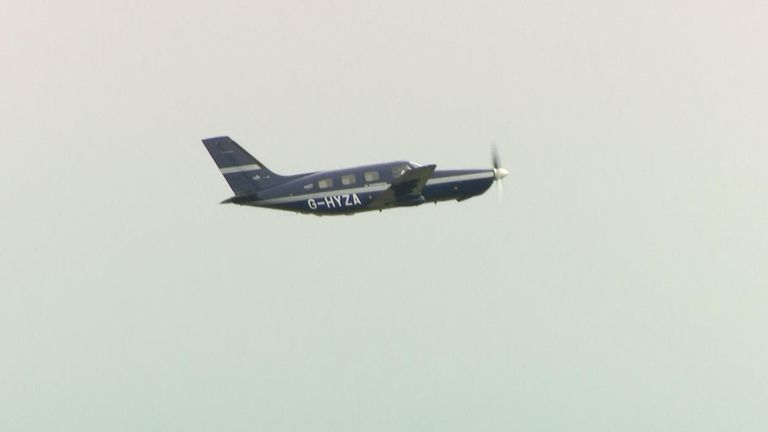 The only thing that the six-seater Piper M-class plane emits is water vapour