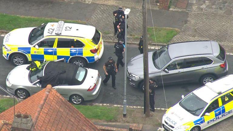 Ipswich shooting incident arrest scene