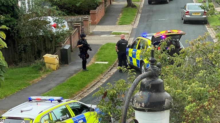 The suspect was arrested in Ipswich - five miles away from the shooting scene