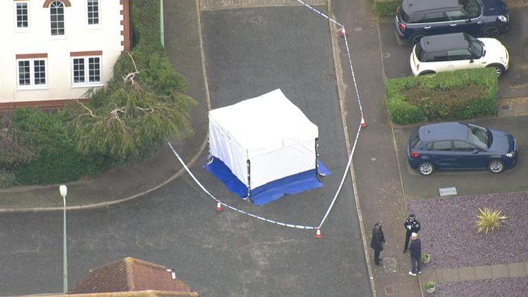 Scene of shooting in Ipswich