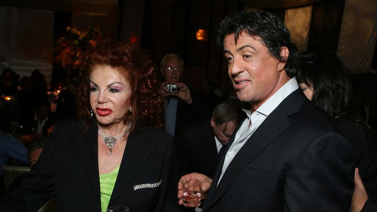 MGM Pictures, Columbia Pictures and Revolution Studios present the World Premiere of 'Rocky Balboa' Jackie Stallone and Sylvester Stallone (Photo by E. Charbonneau/WireImage for MGM )
