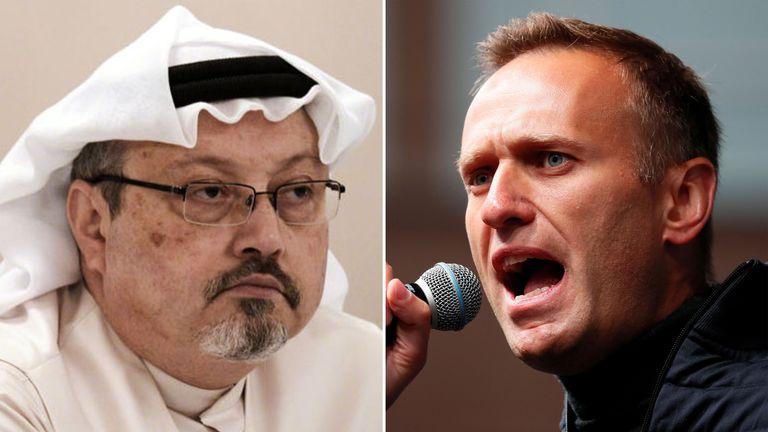 Jamal Khashoggi, left, and Alexei Navalny were targeted by regimes