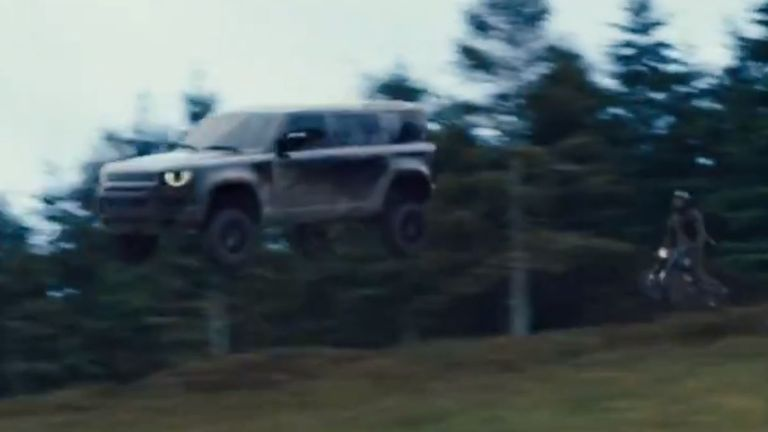 The film has plenty of chase scenes of course - by car, 4x4 and motorbike. Pic: Universal