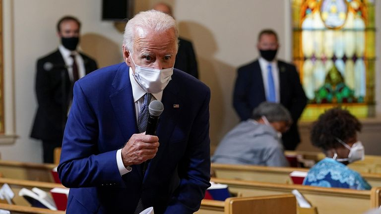 Joe Biden told people in Kenosha the turmoil in their city can be an awakening for the US