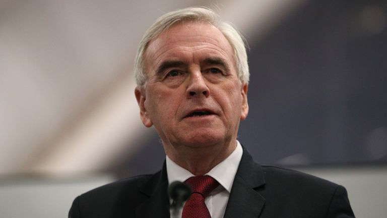 Labour MP and former shadow chancellor John McDonnell