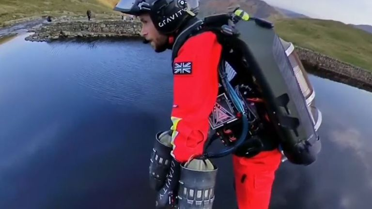 Jet suit is tested in Lake District as possible tool for air ambulance service