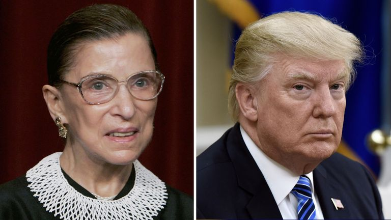 Donald Trump wants Justice Ginsburg's successor to be appointed as soon as possible