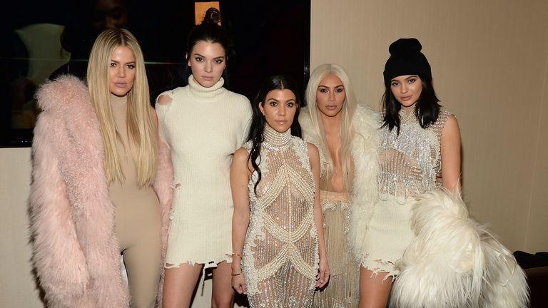 (L to R) Khloe Kardashian, Kendall Jenner, Kourtney Kardashian, Kim Kardashian West and Kylie Jenner